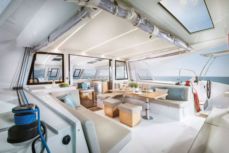 ILLUSION Yacht Charter - Aft deck and cockpit