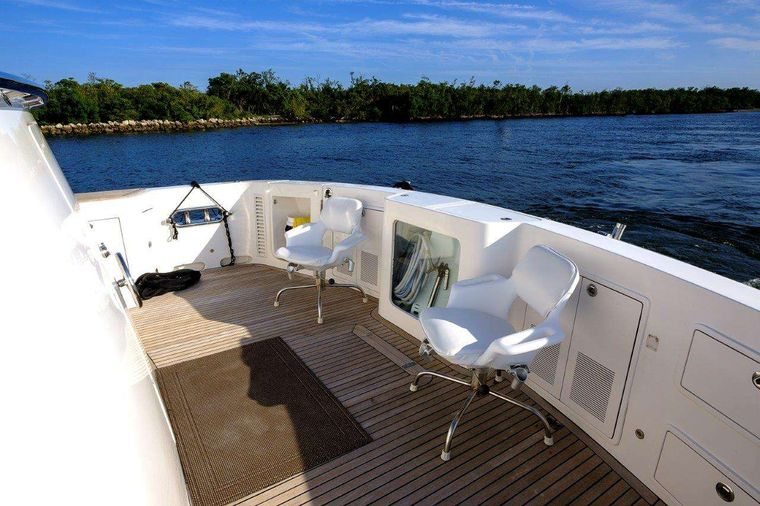 Silver Lining Yacht Charter - Aft Deck