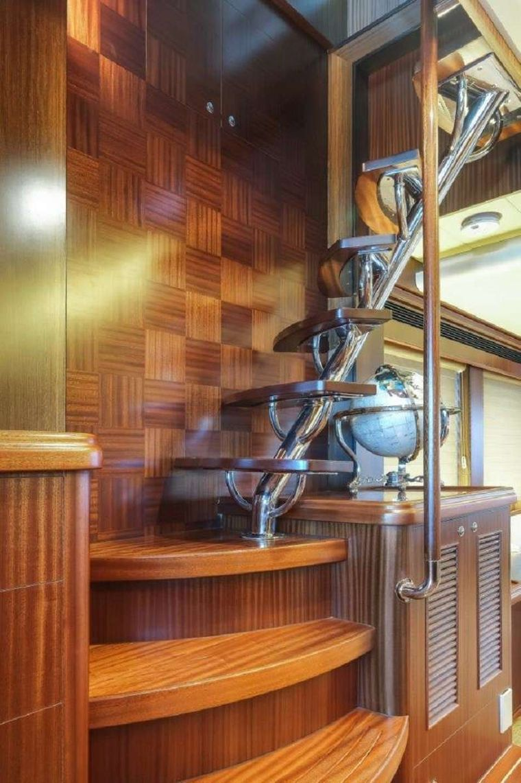 Silver Lining Yacht Charter - Stairway to Flybridge