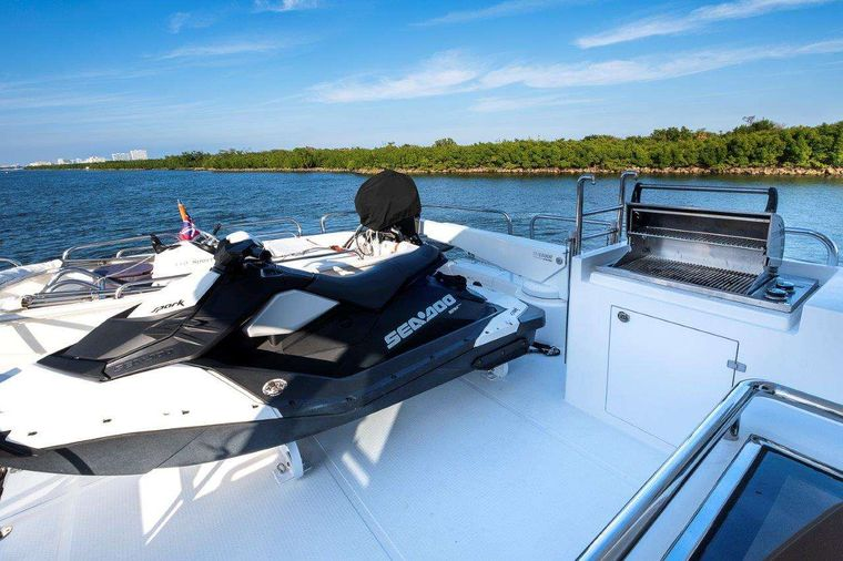 Silver Lining Yacht Charter - Sea Doo in Sky Lounge