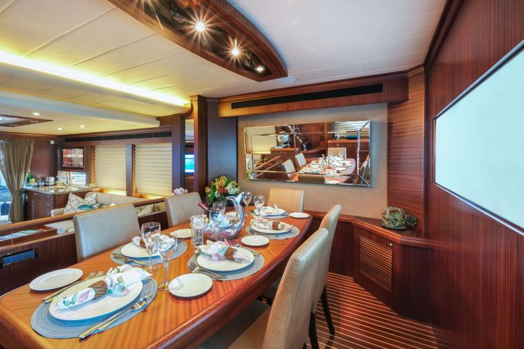 Silver Lining Yacht Charter - Formal Dining