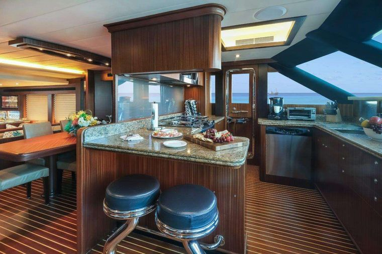 Silver Lining Yacht Charter - Galley