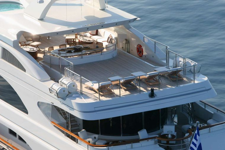 SUNDAY Yacht Charter - Aerial View of Exterior