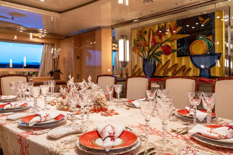 SUNDAY Yacht Charter - Main Deck Dining_2