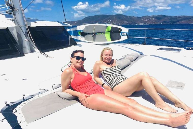 EDDIES IN TIME Yacht Charter - Fore Deck Lounging