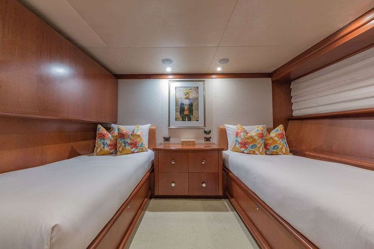AT LAST Yacht Charter - Twin Stateroom (with Pullman)