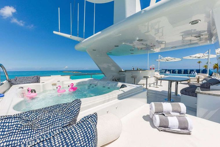 AT LAST Yacht Charter - Sun Deck with Jacuzzi