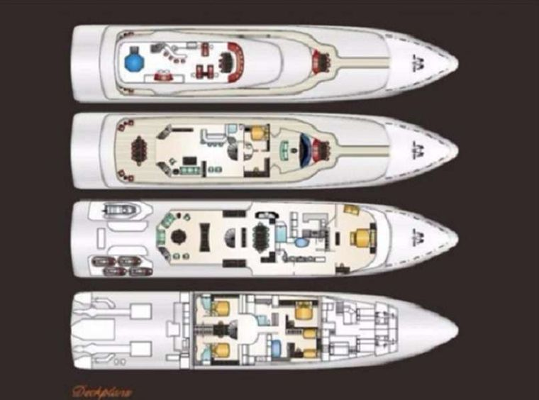 AT LAST Yacht Charter - Deck Layout
