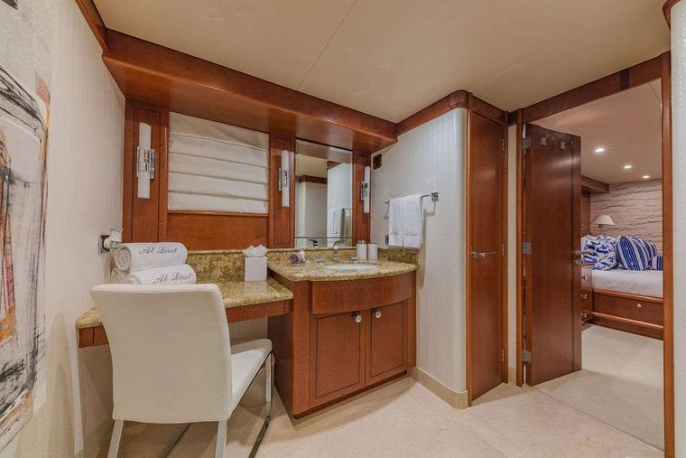 AT LAST Yacht Charter - VIP En-suite with Vanity and Shower