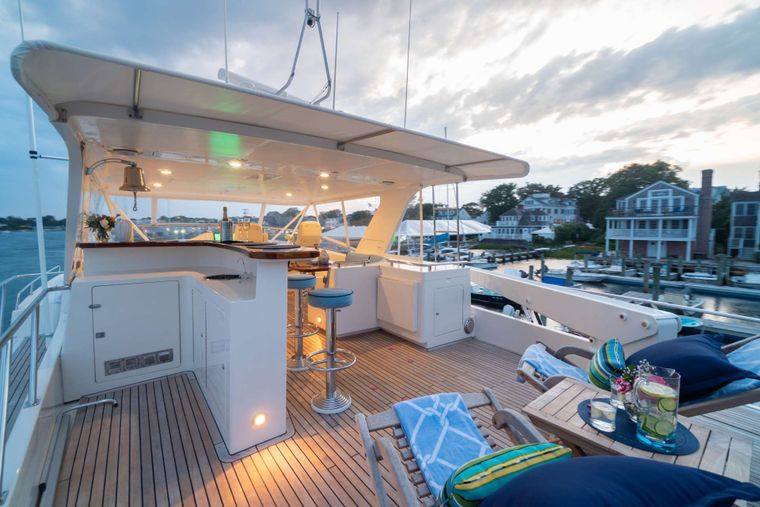 HALCYON SEAS Yacht Charter - Expansive Fly-bridge Perfect for Entertaining