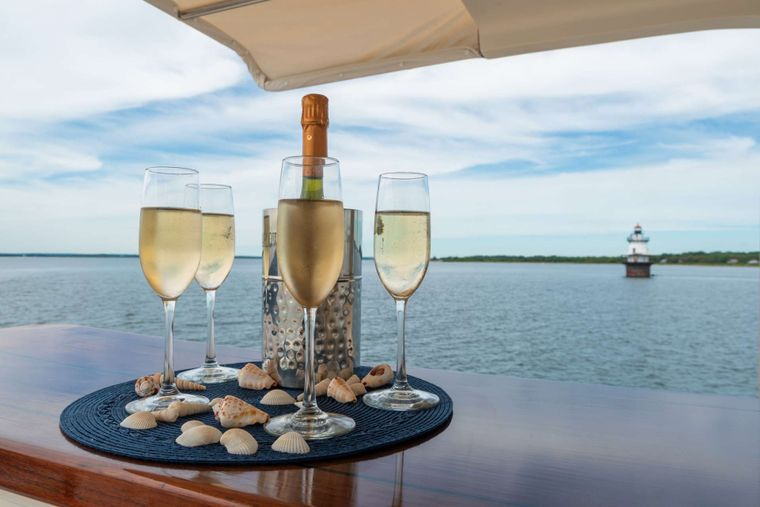 HALCYON SEAS Yacht Charter - Cheers to another amazing day on Halycon Seas