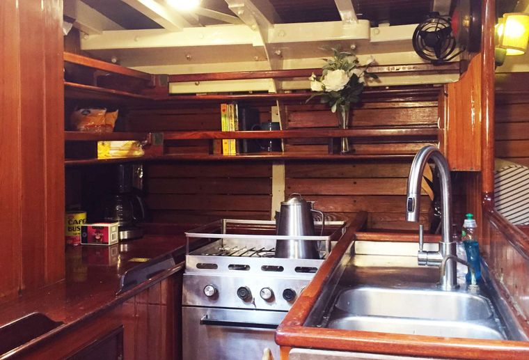 WHEN AND IF Yacht Charter - Galley
