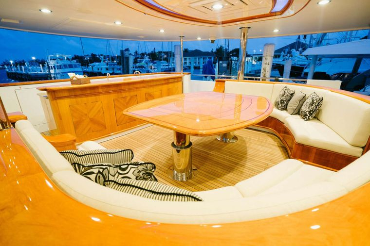 EXCELLENCE Yacht Charter - Aft deck