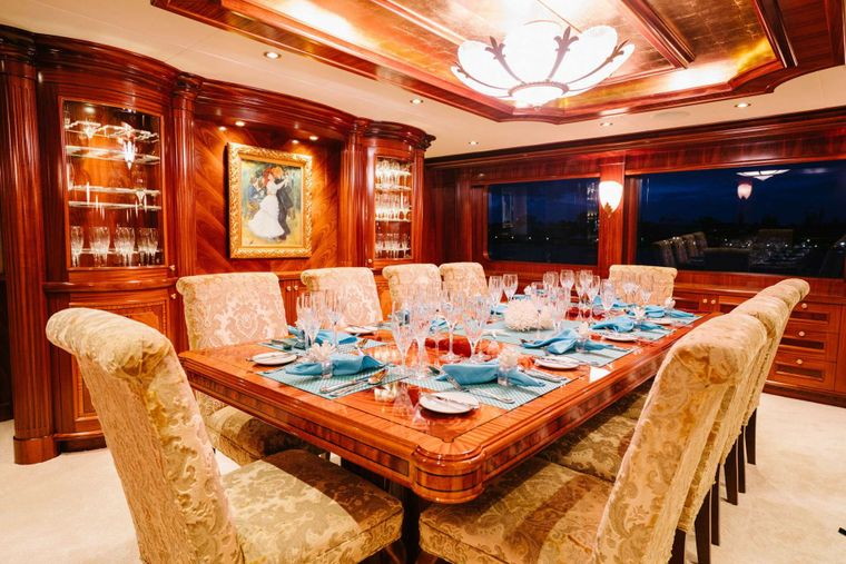 EXCELLENCE Yacht Charter - Dining