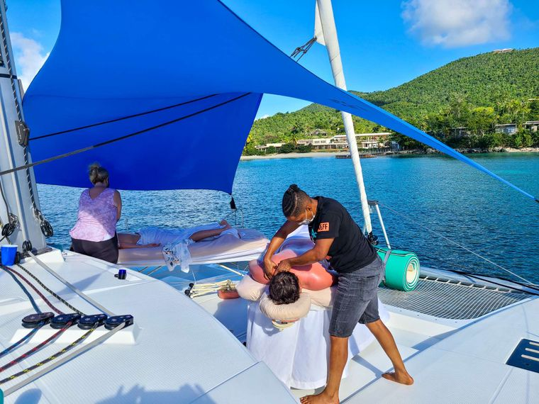 CHAMPS ELYSEES Yacht Charter - Anniversary Bow Massages