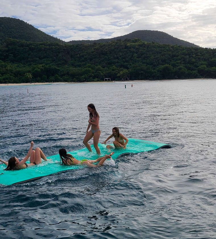CHAMPS ELYSEES Yacht Charter - Floating Mat Fun