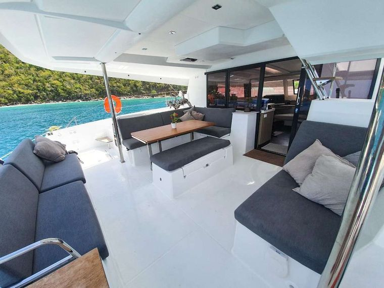 CHAMPS ELYSEES Yacht Charter - Cockpit Dining Area