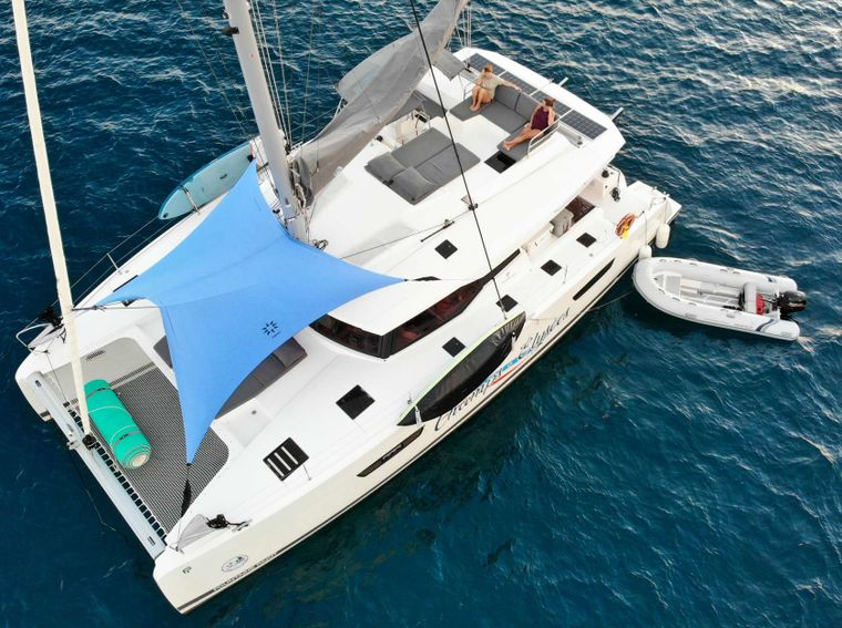 CHAMPS ELYSEES Yacht Charter - Topdeck lounging and Foredeck Shade