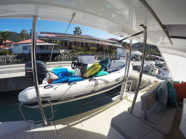 MOON BLOSSOM Yacht Charter - Dinghy with lots of toys