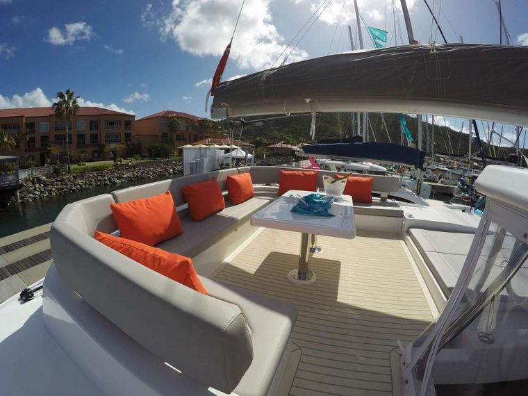 MOON BLOSSOM Yacht Charter - Top flybridge seating 360 degree view!