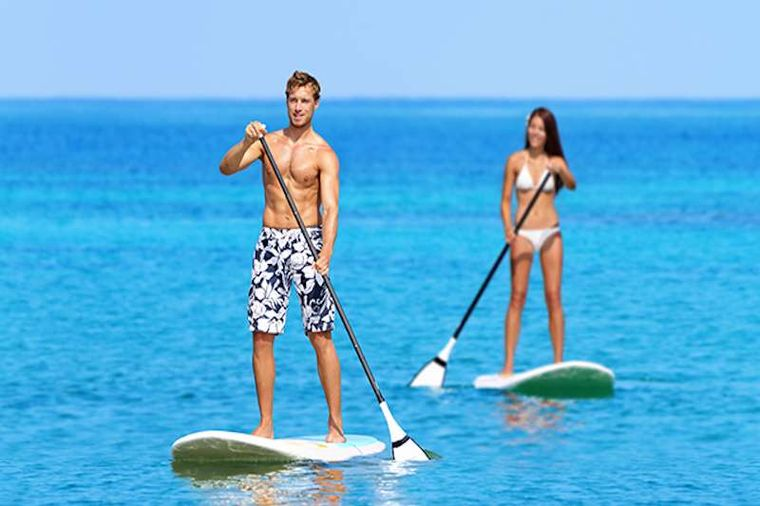 CHAMPAGNE Yacht Charter - Paddle Boarding