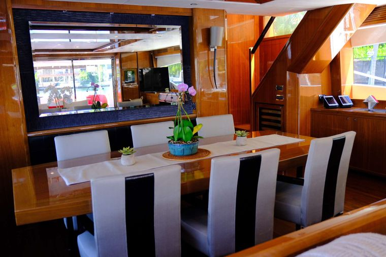 LOVE N LIFE Yacht Charter - Dining Area