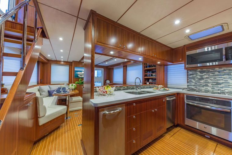 ASTURIAS Yacht Charter - Galley and Salon