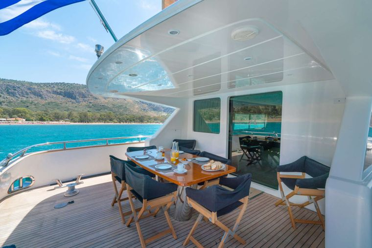 AlanDiNi Yacht Charter - Aft Deck with Alfresco Dining