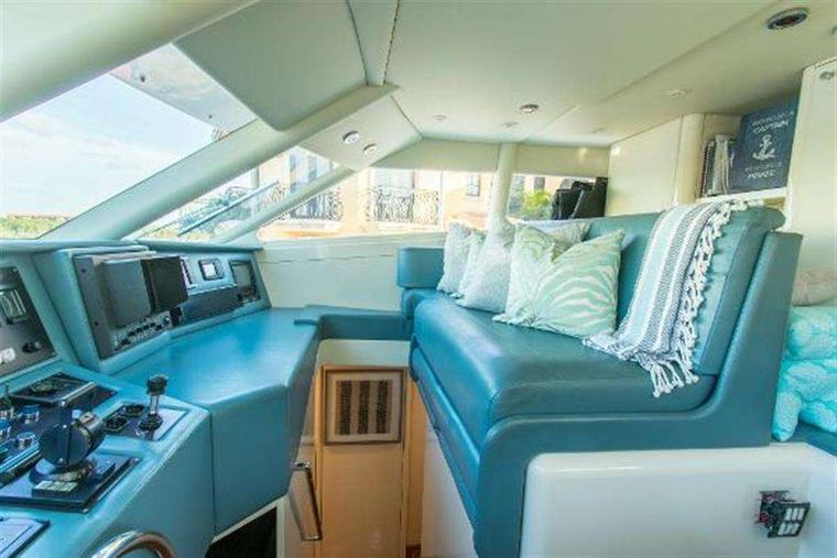 HIGHLINE Yacht Charter - Inside wheelhouse