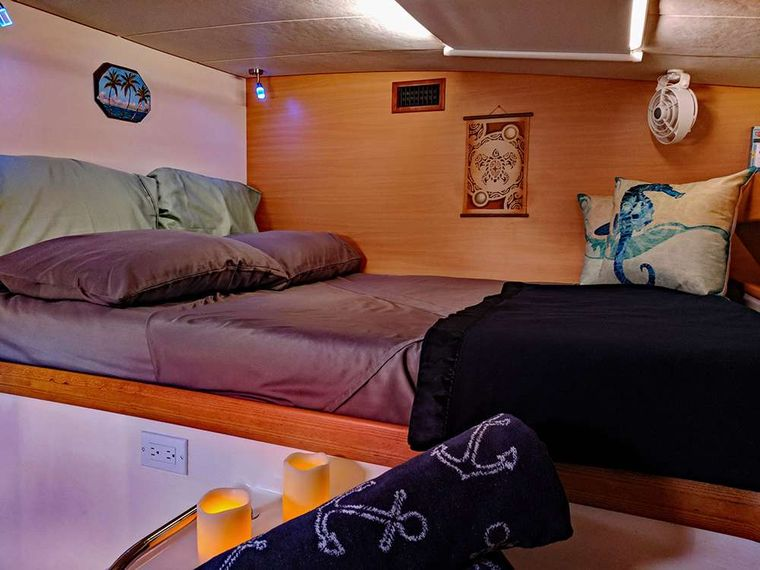 KUMA TOO Yacht Charter - Entry to guest cabins