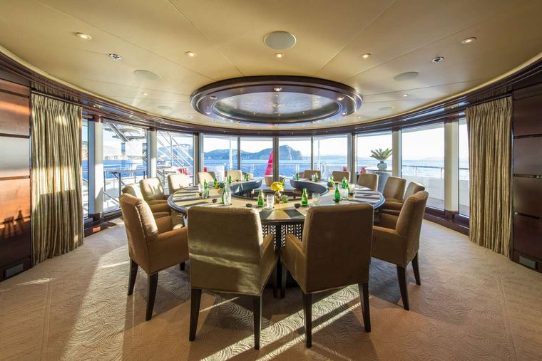 EMINENCE Yacht Charter - Dining Area