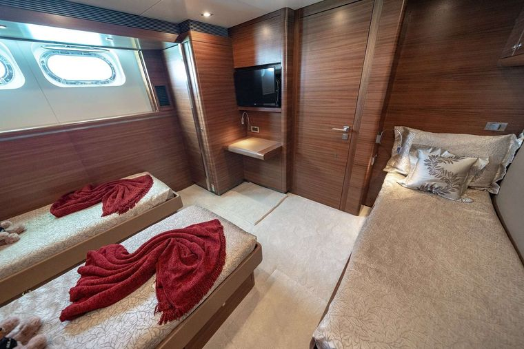 SEA AXIS Yacht Charter - Twin Stateroom #1 with Pullman