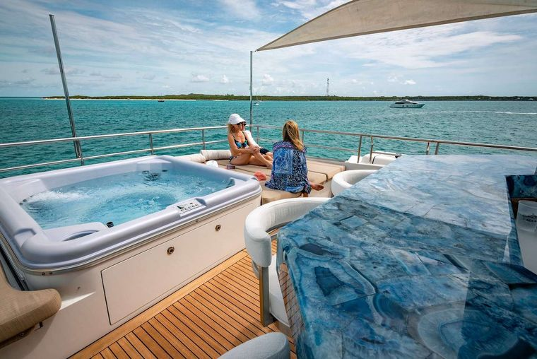 SEA AXIS Yacht Charter - Sun Deck with Jacuzzi and Bar