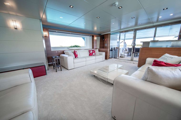 SEA AXIS Yacht Charter - Main Salon Looking Aft