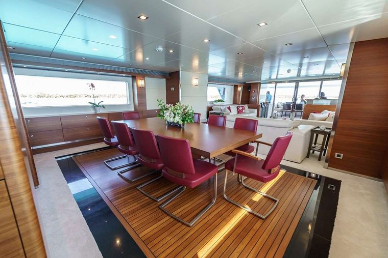 SEA AXIS Yacht Charter - Formal Dining