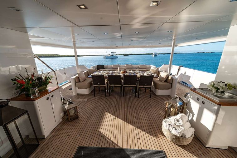 SEA AXIS Yacht Charter - Aft Deck