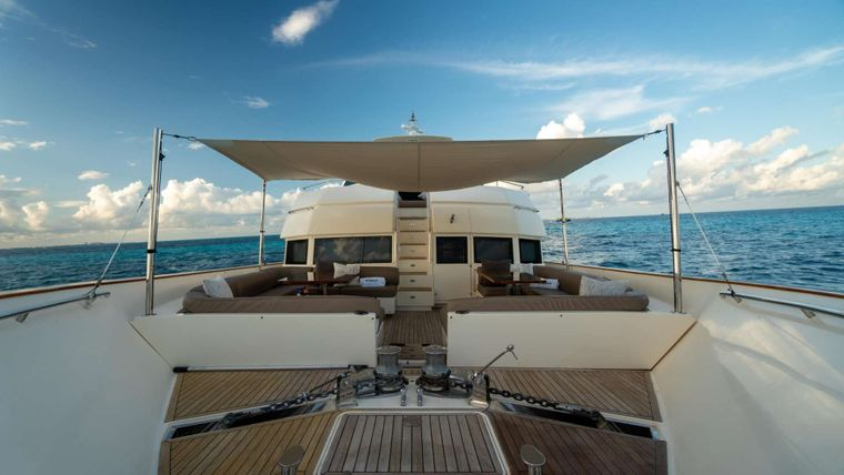 NOMADA Yacht Charter - Foredeck and shade
