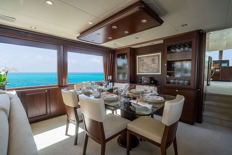 TRUE NORTH Yacht Charter - Dining Area