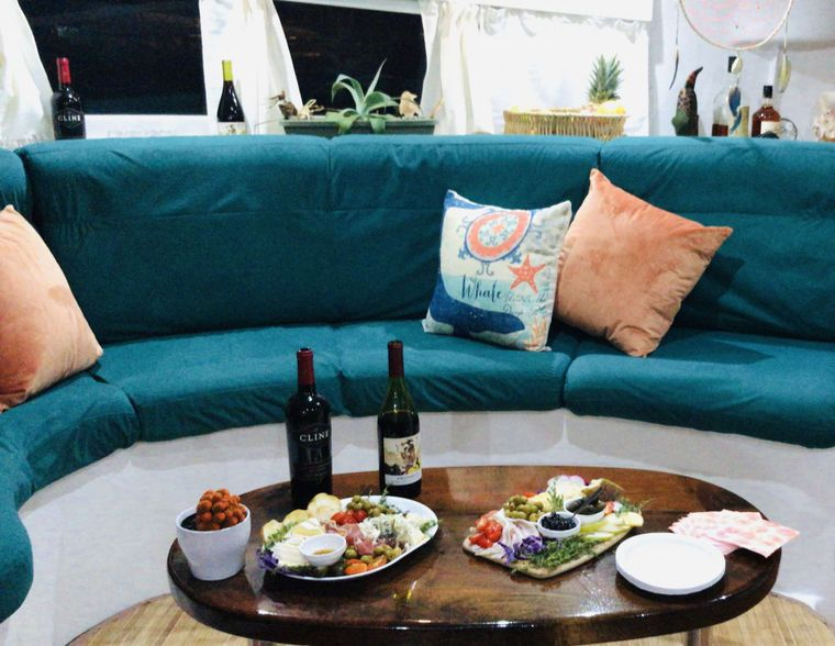 DREAMCATCHER Yacht Charter - Comfortable lounge - with some delicious snacks