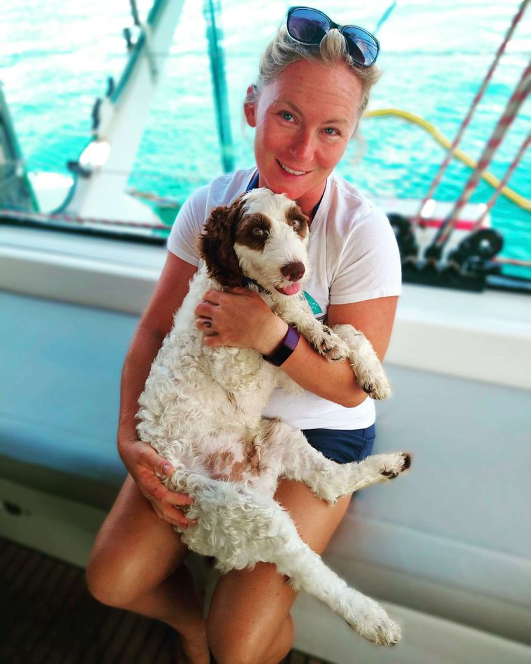 DREAMCATCHER Yacht Charter - Chef Stef with Parker (1st Mate)