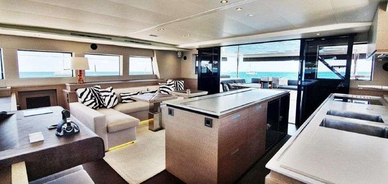 MARE BLU Yacht Charter - Upper galley area