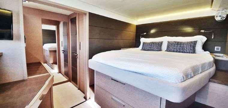 MARE BLU Yacht Charter - ...Fwd cabin from different angle