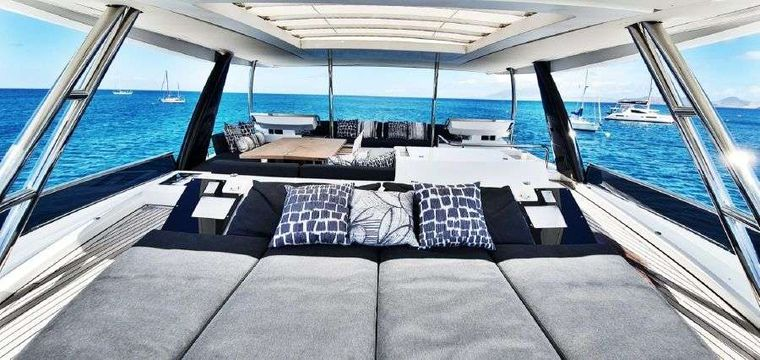 MARE BLU Yacht Charter - Fantastic Flybridge 360 degree Viewing Experience
