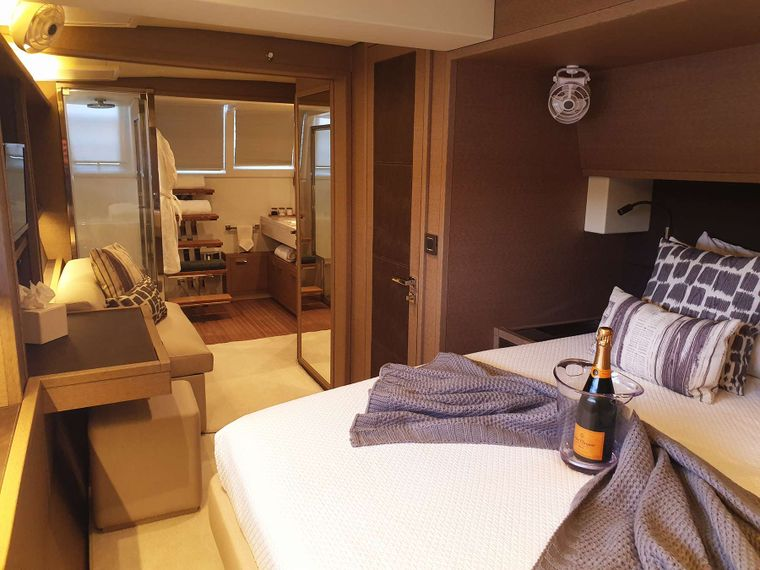 MARE BLU Yacht Charter - Primary Aft Guest Cabin