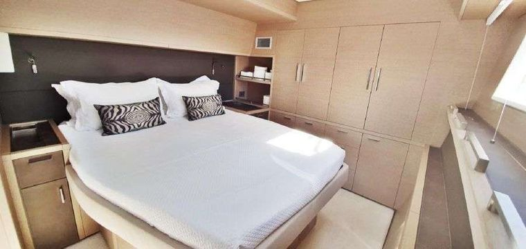 MARE BLU Yacht Charter - Same Spacious Aft Primary Cabin......