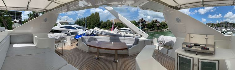 XANADU of LONDON Yacht Charter - Fly Bridge with BBQ  and Seating