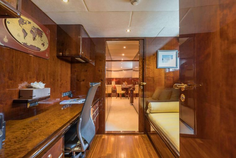 XANADU of LONDON Yacht Charter - Master Office and Optional Sofa Bed