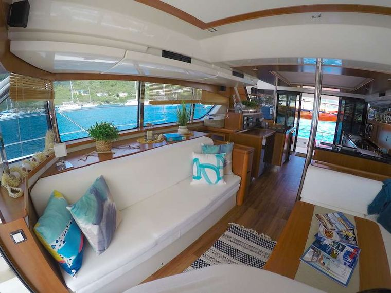VYVO Yacht Charter - Another view aft from the saloon