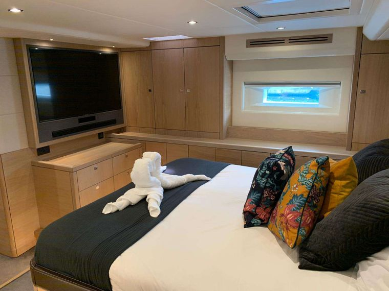 Oyster 825 Yacht Charter - CH - Master Cabin