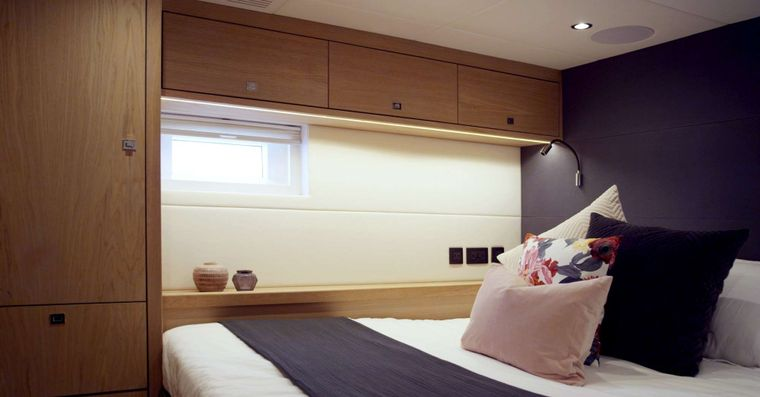 Oyster 825 Yacht Charter - CH - Aft Guest Cabin 1